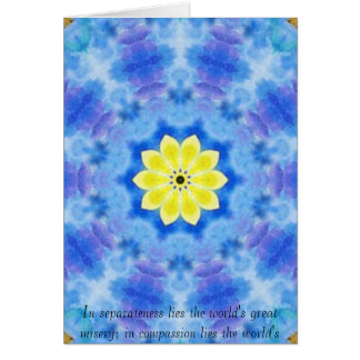 Far Eastern Inspired Tranquility Note card with Bu