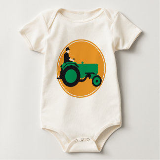 far MER with tractor Baby Bodysuit