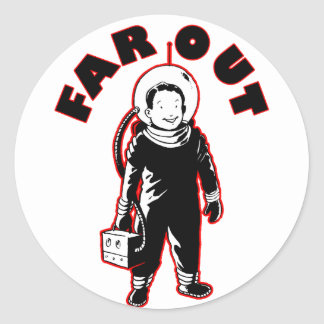 Far Out Classic Round Sticker