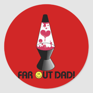 Far Out Dad Classic Round Sticker