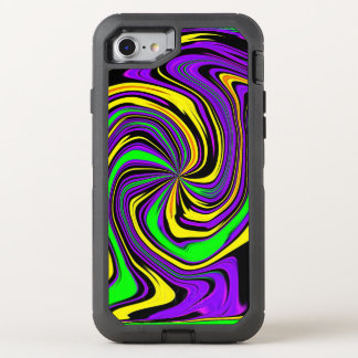 Far-out Funky Psychedelic Wet Paint Swirl Pattern OtterBox Defender iPhone 7 Case