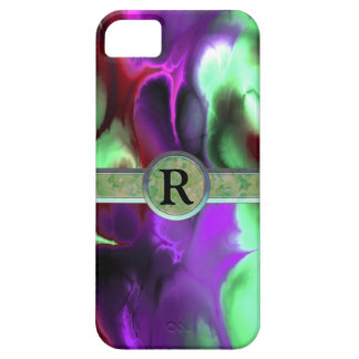 Far Out Green & Purple Fractal Monogram iPhone SE/5/5s Case