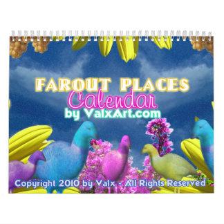Far out places  Valxart calendar