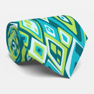 Far Out Retro Abstract Two-side Printed Neck Tie