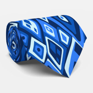 Far Out Retro Abstract Two-side Printed Tie