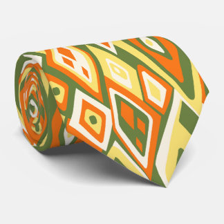 Far Out Retro Abstract Two-sided Tie