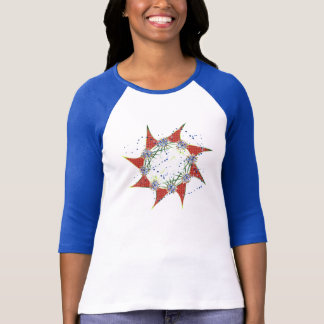 Far Out StarZ ~ Christmas Blue/Gold Snowflakes T-Shirt