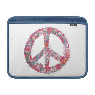 Far Too Pretty Floral Peace Symbols MacBook Air Sleeve
