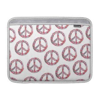 Far Too Pretty Floral Peace Symbols MacBook Sleeve