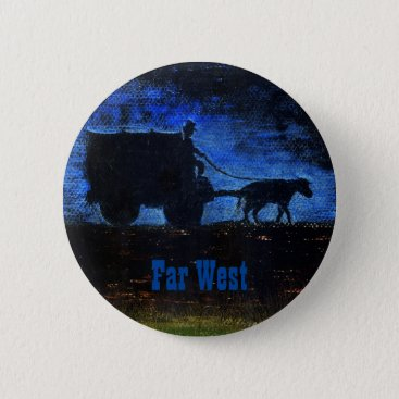 Far West · Carriage at dusk Button