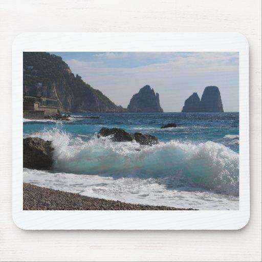 Faraglioni Rock formation on island Capri Mouse Pad