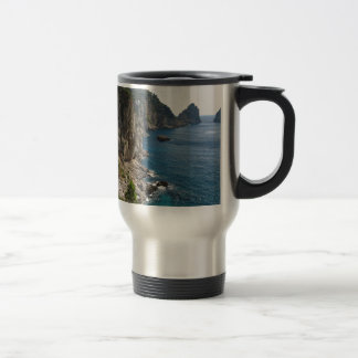 Faraglioni Rock formation on island Capri Travel Mug