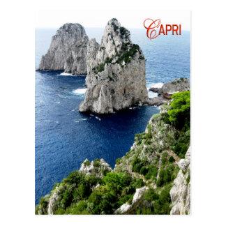 Faraglioni stacks, Capri, Italy Post Card