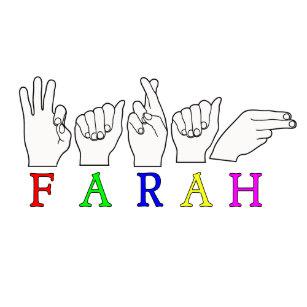 8c1d3a93050 FARAH NAME ASL FINGER SPELLED TRUCKER HAT