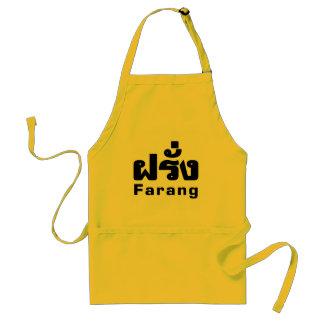 Farang ♦ Foreigner in Thai Language Script ♦ Aprons