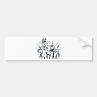 farao com mesa egito antigo car bumper sticker