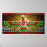 Faravahar Painting Poster