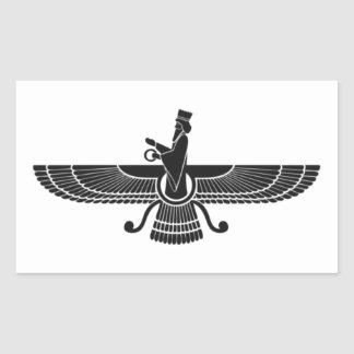 Faravahar Rectangular Sticker