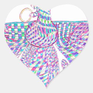 Faravahar separa sus alas pegatina en forma de corazón