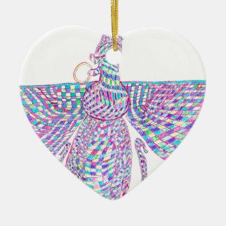 Faravahar spreads its wings ceramic ornament