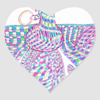 Faravahar spreads its wings heart sticker