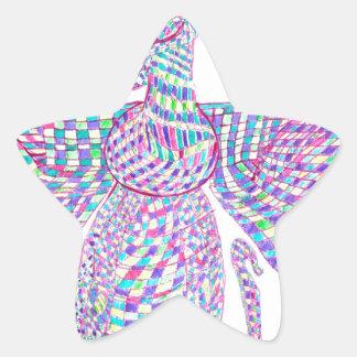 Faravahar spreads its wings star sticker