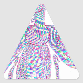 Faravahar spreads its wings triangle sticker