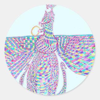 Faravahar spreads its wings classic round sticker