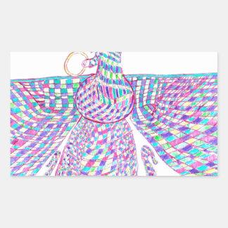 Faravahar spreads its wings rectangular sticker
