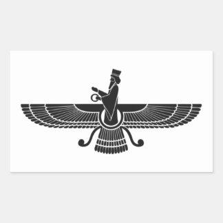 Faravahar Rectangular Sticker