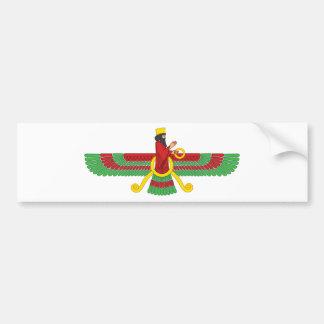 Faravahar Symbol Bumper Sticker