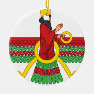 Faravahar Symbol Ceramic Ornament