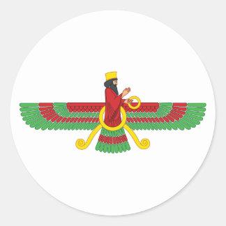 Faravahar Symbol Classic Round Sticker