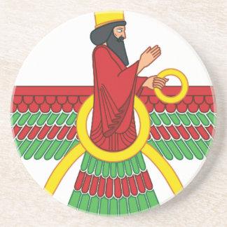 Faravahar Symbol Sandstone Coaster
