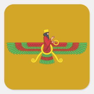 Faravahar Symbol Square Sticker