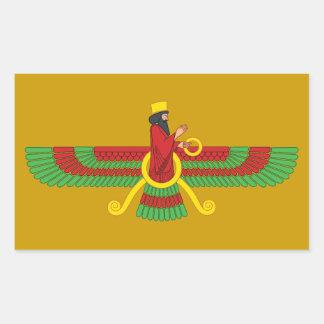 Faravahar Symbol Rectangular Sticker