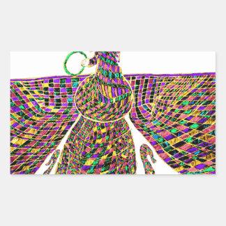 Faravir Psychedelic Rectangular Sticker