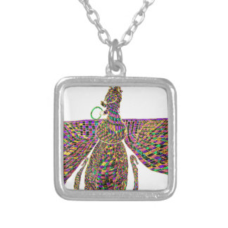 Faravir Psychedelic Silver Plated Necklace