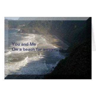 Faraway Beach Greeting Card