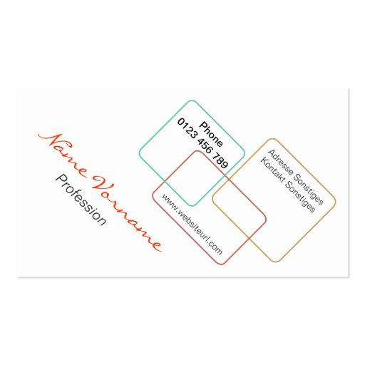 farbe tarjetas de negocios