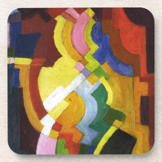Farbige Formen III by August Macke Beverage Coaster