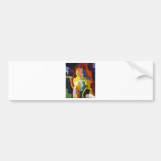 Farbige Formen III by August Macke Bumper Sticker