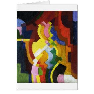 Farbige Formen III by August Macke Card