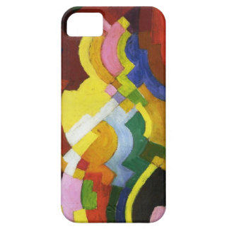Farbige Formen III by August Macke iPhone SE/5/5s Case