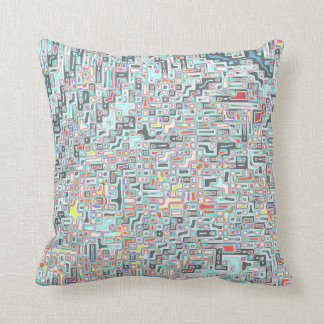 farbige Rechtecke Pastell colorful rectangles Throw Pillow