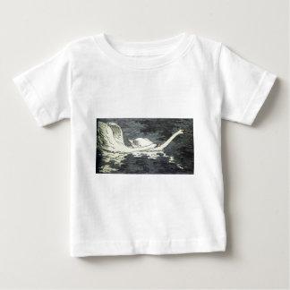 Farbiger Holzschnitt Zwei Schwäne by Otto Eckmann Baby T-Shirt