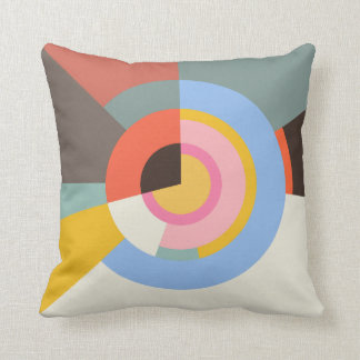 Farbiges Muster radial Throw Pillow