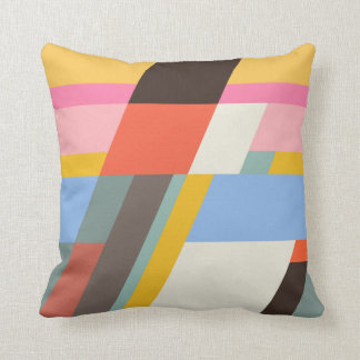 Farbiges Muster Throw Pillow