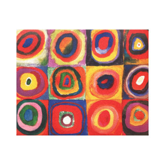 Farbstudie Quadrate - arte colorido Impresion De Lienzo