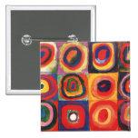 Farbstudie Quadrate - arte colorido Pin